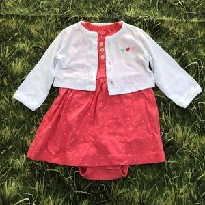 Baby dress with sweater 6M